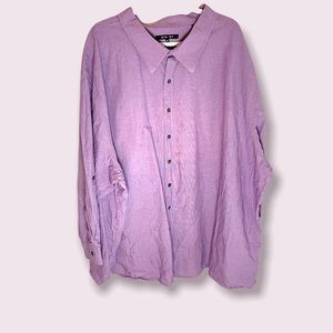 Synrgy Micro Purple Gingham Button Up Shirt